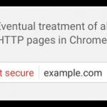 """Google Chrome mostrará sites HTTP como """"Não seguro"""""""